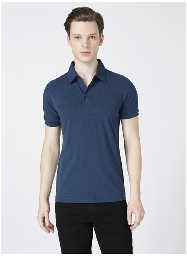 Lee Cooper Lee Cooper Daker İndigo Polo Yaka T-Shirt İndigo